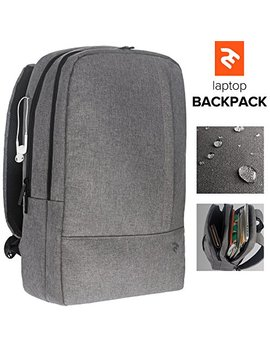 Lightweight Computer Backpack – Stylish Laptop Backpack For Men Or Women – Water, Scratch & Tear Resistant Material – Minimalist Business Laptop Backpack For 15,6 Inch Laptops & Notebooks by 2 E