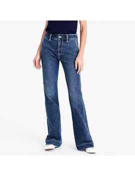 Petite Wide Leg Trouser Jean In Tahoe Wash by J.Crew