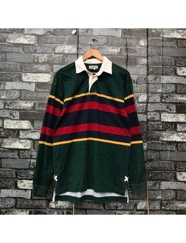 Ll Bean Sportswear Rare Multicolor Striped Rugby Shirt Medium Size #1097 by Etsy