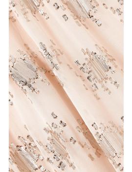 William Metallic Fil Coupé Silk Blend Midi Dress by Stine Goya