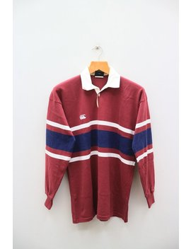 Vintage Canterbury Of New Zealand Small Logo Sportswear Maroon Red Rugby Polos Shirt Size M by Etsy