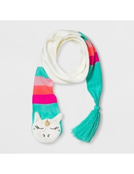 Girls' Knit Unicorn Scarf   Cat & Jack™ Cream One Size by Cat & Jack™