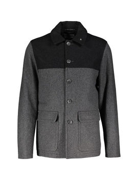 Dark Grey Wool Blend Coat by Peter Werth