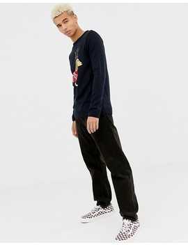 Boohoo Man Holidays Sweater With Daschund In Navy by Boohoo Man