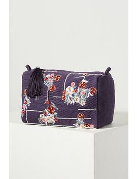 Floral Embroidered Cosmetic Case by Camilla