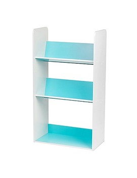 Iris® 3 Shelf Angled Bookcase In Blue And White by Bed Bath And Beyond