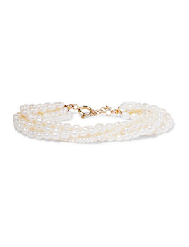 14 Karat Gold Pearl Bracelet by Loren Stewart