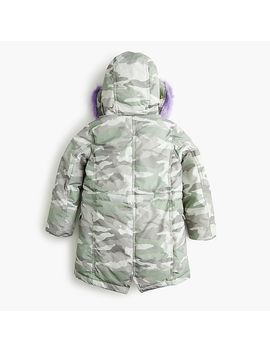 Girls' Fur Trimmed Camo Puffer With Primaloft® by Girls' Fur Trimmed Camo Puffer With Primaloft