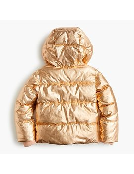 Girls' Metallic Puffer Jacket With Primaloft® by Girls' Metallic Puffer Jacket With Primaloft