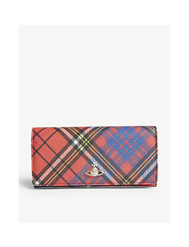 Derby Tartan Textured Leather Wallet by Vivienne Westwood