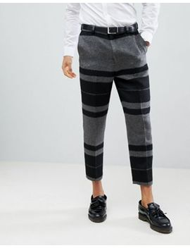 Asos Design Tapered Smart Trousers In Hairy Bold Stripe by Asos Design