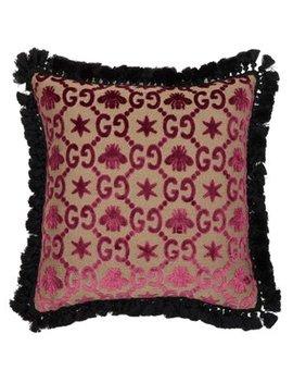 Gg Jacquard Cushion by Gucci