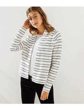 Striped Boucle Open Cardigan by Loft