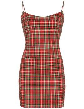 Viki Sleeveless Check Print Cotton Blend Dress by Miaou