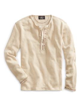 Embroidered Terry Henley by Ralph Lauren