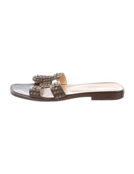 Stud Embellished Oran Sandals by Hermès