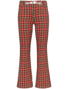 Morgan Plaid Trousers by Miaou