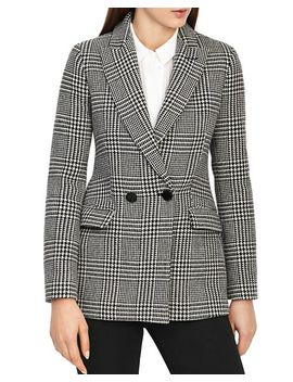Langley Houndstooth Print Blazer by Reiss