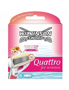 Wilkinson Sword Quattro Razor Blades Refills For Women   Pack Of 6 by Wilkinson Sword