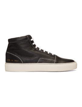 Black Skate Mid Sneakers by Common Projects