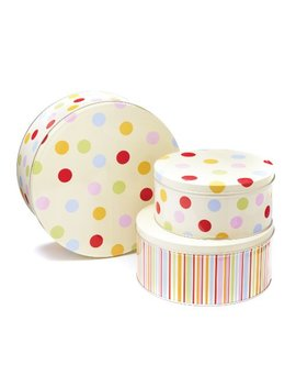 Cooksmart Cake Tins, Set Of 3, Spots by Cooksmart