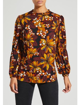 Floral Balloon Sleeve Blouse by Matalan