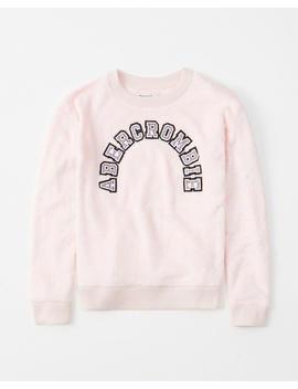 Glitter Logo Crew Sweatshirt by Abercrombie & Fitch