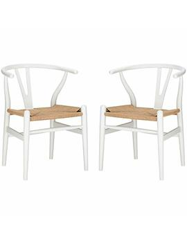 Poly And Bark Weave Chair In White (Set Of 2) by Poly And Bark