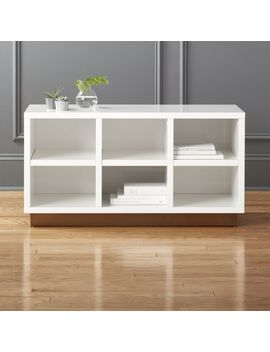 Oberlin Small White Entry Bench. by Crate&Barrel