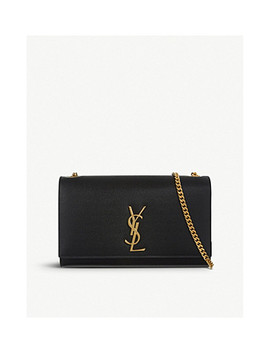 Monogram 皮革中号单肩包 by Saint Laurent