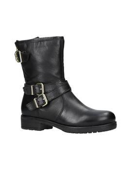 Carvela Soulful Biker Calf Boots, Black Leather by Carvela
