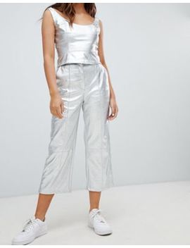 Bershka Metallic Pants by Bershka
