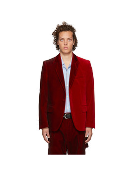 Red Velvet Kitt Blazer by Golden Goose