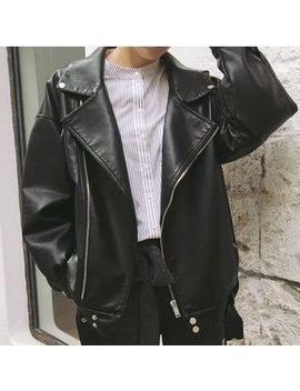 Mave   Faux Leather Biker Jacket by Mave