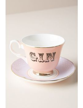 Bevvie Cup & Saucer by Anthropologie