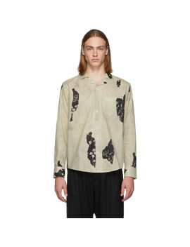 Beige Wallpaper Shirt by L'homme Rouge