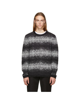 Black Wade Ombre Stripe Sweater by Saturdays Nyc