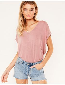 Scoop Hem Tee by Glassons