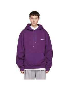 Purple Basic Hoodie by Ader Error