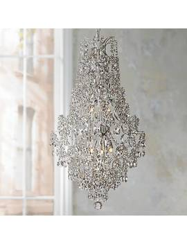 """Marilyn 18 1/4"""" Wide Chrome And Crystal Chandelier by Lamps Plus"""