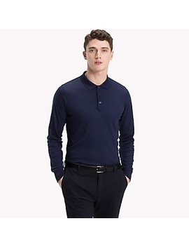 Long Sleeve Slim Fit Polo by Tommy Hilfiger