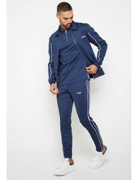 Essential Neoprene Tracksuit Jacket   Navy by Maniere De Voir