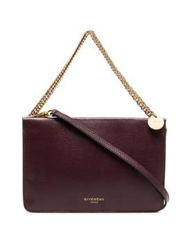 Burgundy Cross3 Leather Cross Body Bag by Givenchy