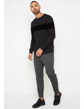 Velvet Panel Jumper   Black by Maniere De Voir