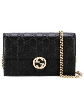 Signature Icon Chain Wallet by Gucci