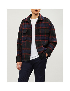 Checked Woven Jacket by The Kooples