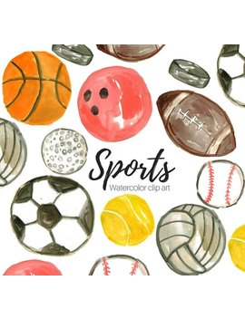 Sport Clip Art   Watercolor Clipart   School Clipart   Activity Clipart  Commercial Use by Etsy