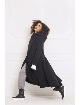 Winter Coat, Wool Coat, Trendy Plus Size Clothing, Long Coat, Women Coat, Hooded Coat, Maxi Coat, Cashmere Coat, Black Coat, Women Hoodie by Etsy