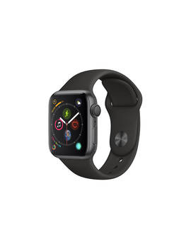 Apple Watch Series 4, Gps, 40mm Space Grey Aluminium Case With Sport Band, Black by Apple