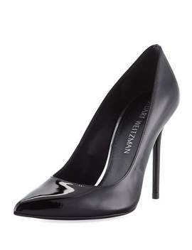 Nouveau Patent Leather Point Toe Pumps by Stuart Weitzman